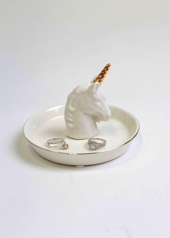 Unicorn Unicorn Jewelry Dish White Dish