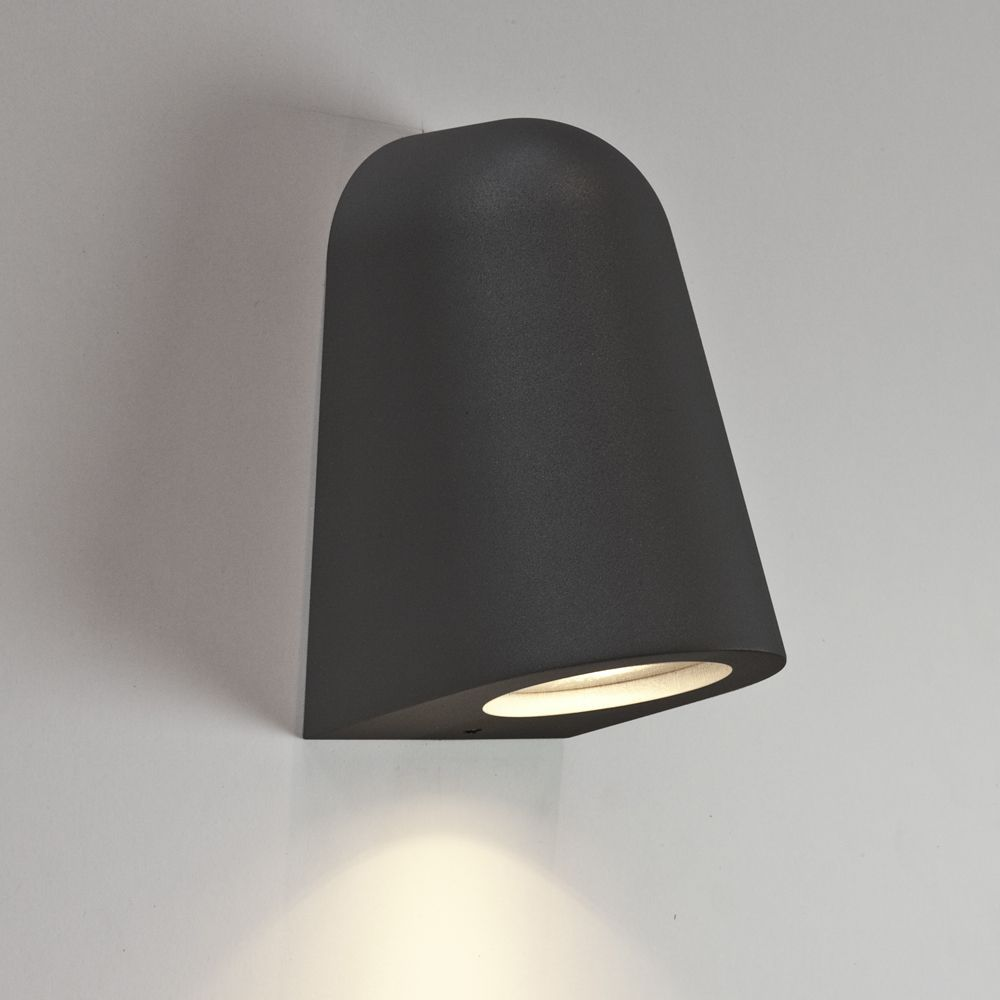 Wall Mounted Lights   The Astro Mast Black Exterior Wall Light Is A Modern  Looking Downlight
