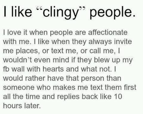 What is clingy mean