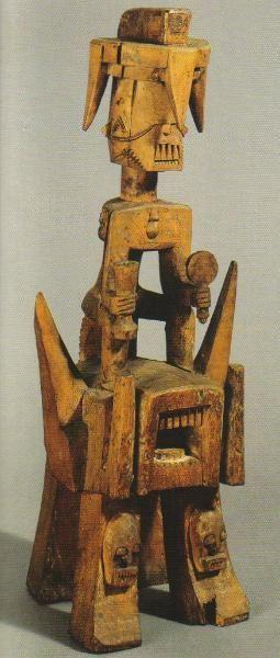 Carved figure (efri) Ijo, Nigeria 19th century? wood 99 x 36 x 42 cm The Trustees of the British Museum, London, 1949
