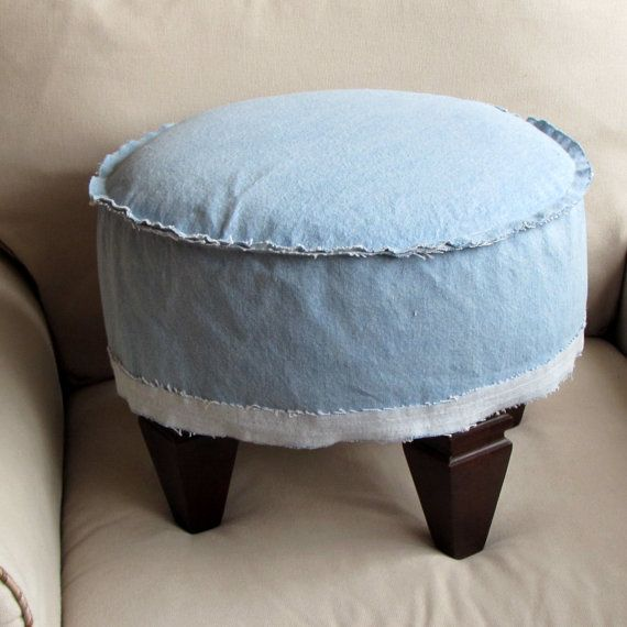 French Country chic DENIM Slipcovered by yiayias on Etsy