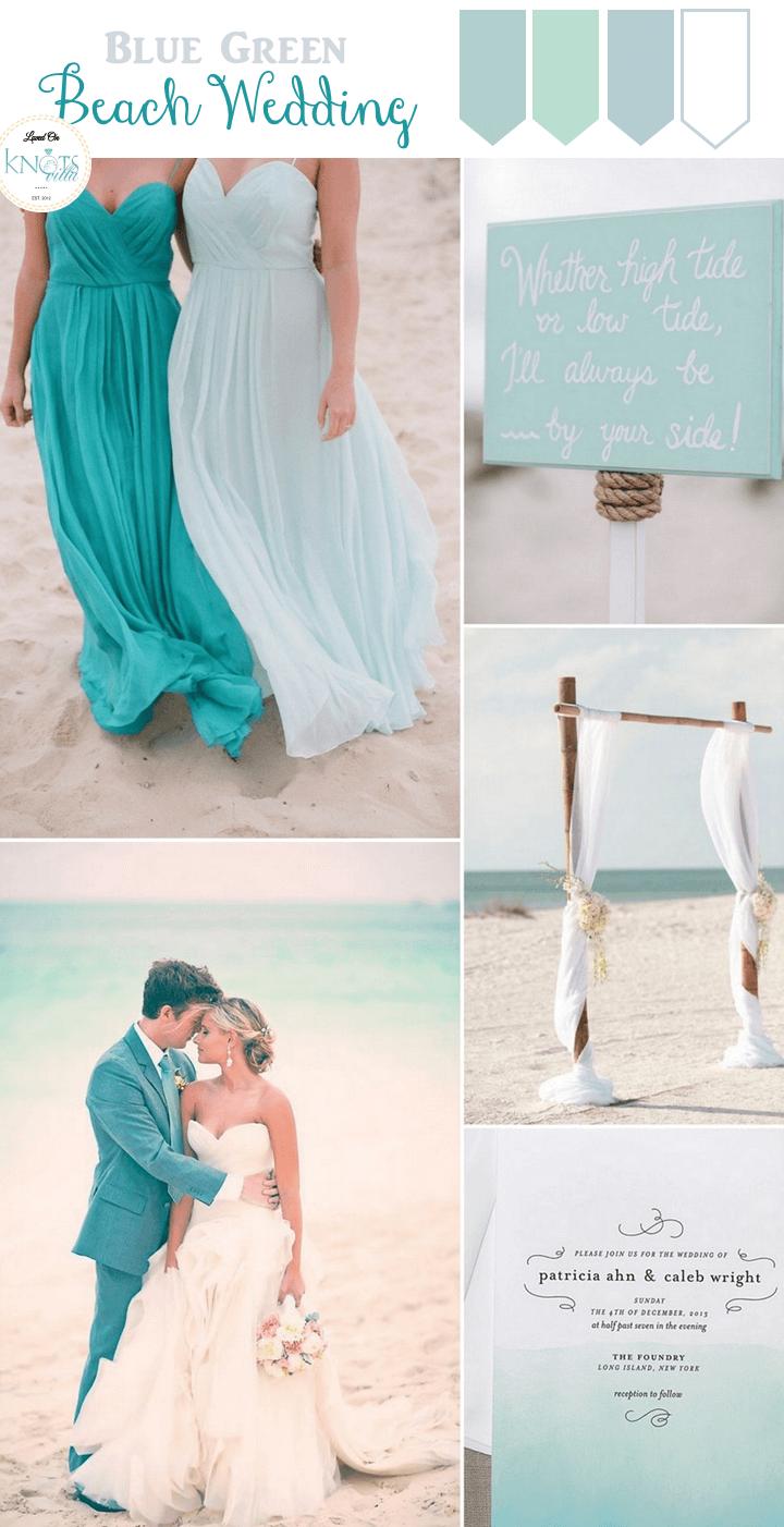 Blue green beach wedding inspiration mitt bröllop pinterest