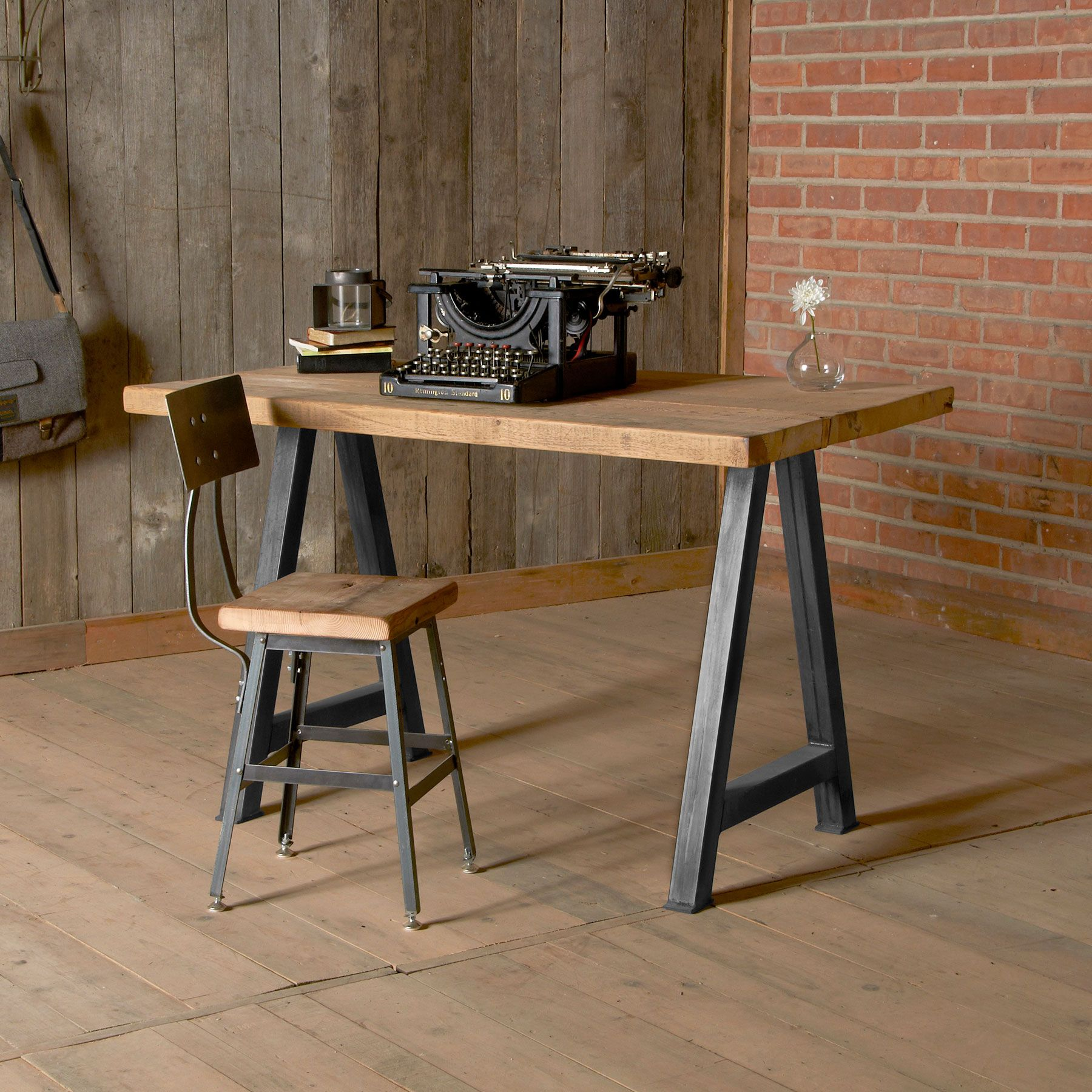 This American Desk Industrial Style Office Furniture Wood Office Furniture Modern Wood Desk