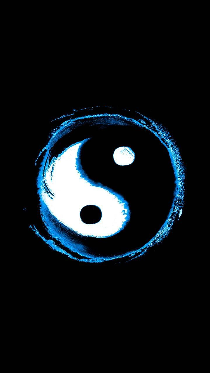 Download Yin Yang Blue Wallpaper By Wildwolf0524 32 Free On Zedge Now Browse Millions Of Popular Black Wallpape Ying Yang Wallpaper Yin Yang Art Yin Yang