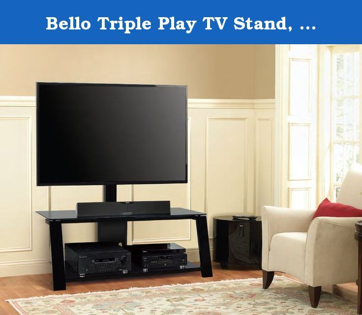 Bello Triple Play Tv Stand Up To 63 Inch This Two Shelf Triple