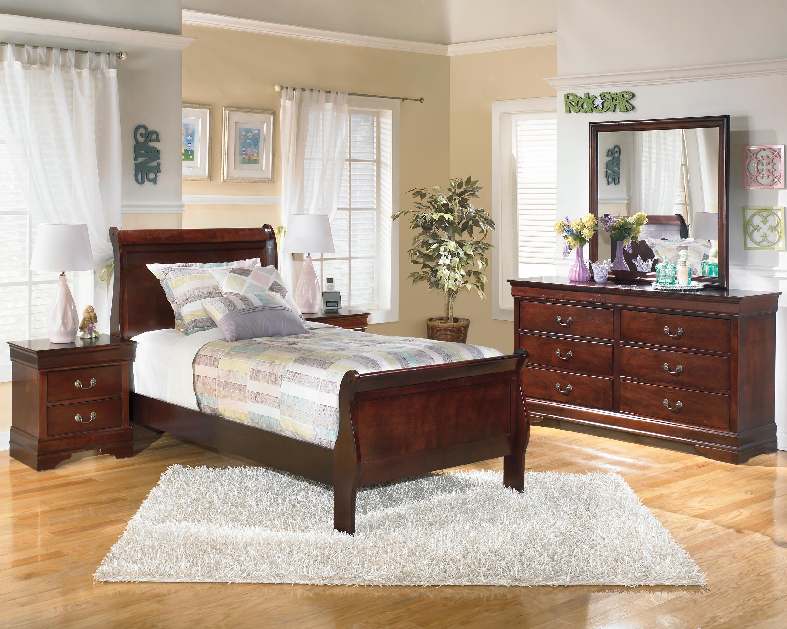Alisdair Twin Bed With 2 Nightstands Dark Brown Master Bedroom