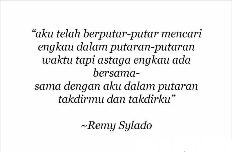 Puisi Pendek Kumpulan Puisi Remy Sylado Puisi Takdir Persamaan