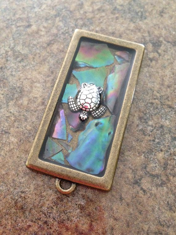 Beautiful Sea Turtle Pendant Antique Bronze by CutestClayByMe