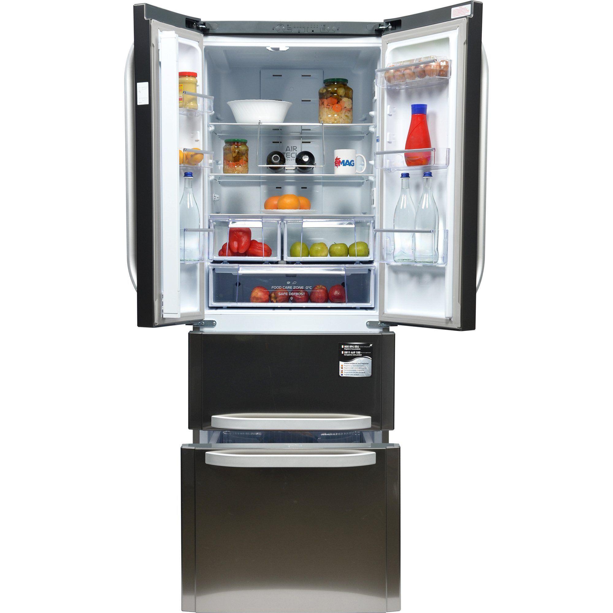 Combina frigorifica HotpointAriston Quadrio E4DAAXC, 470
