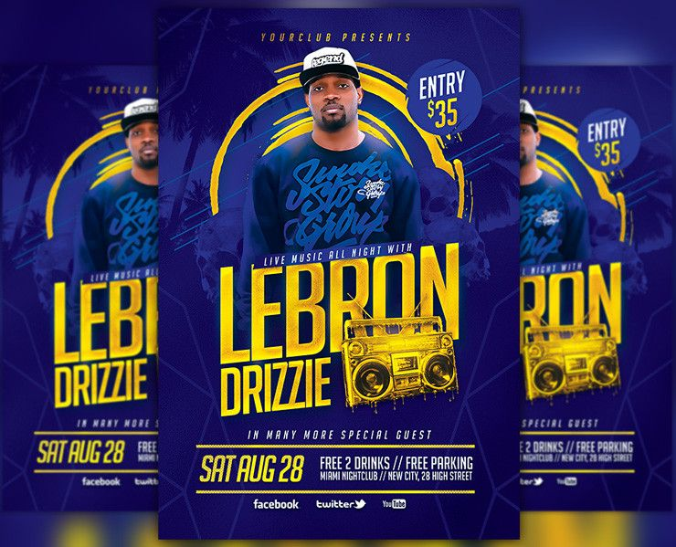 Artist Music Event Flyer Template Cm Awesomeflyer Free Psd Flyer