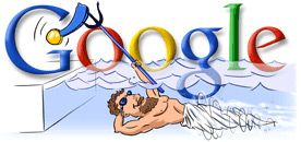 Google Doodle Summer Olympics 2004 Swimming Olympic Games 2004 Olympics Google Doodles