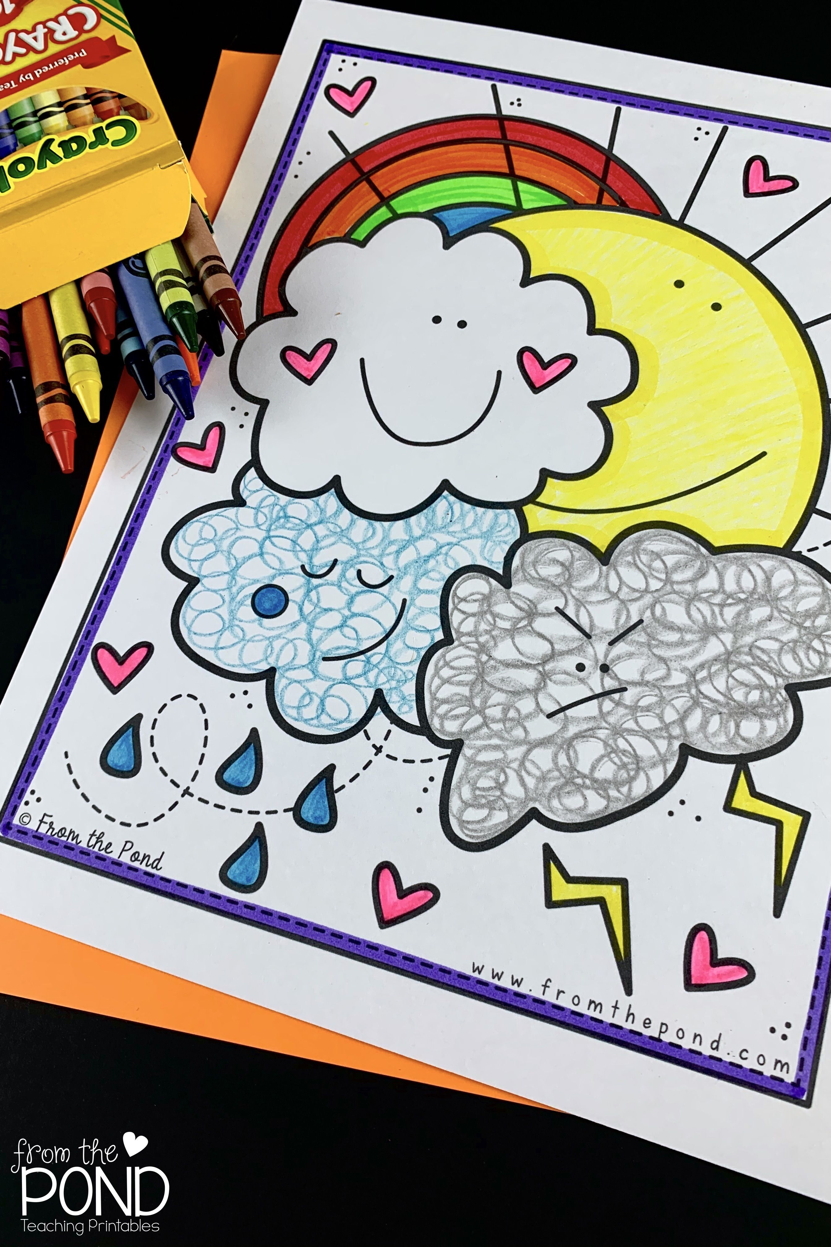 Weather Coloring Pages In 2021 Coloring Pages Free Coloring Pages Teaching Printables [ 4032 x 2688 Pixel ]