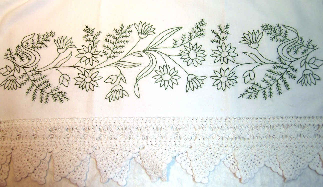 pillow case #embroidery #pattern