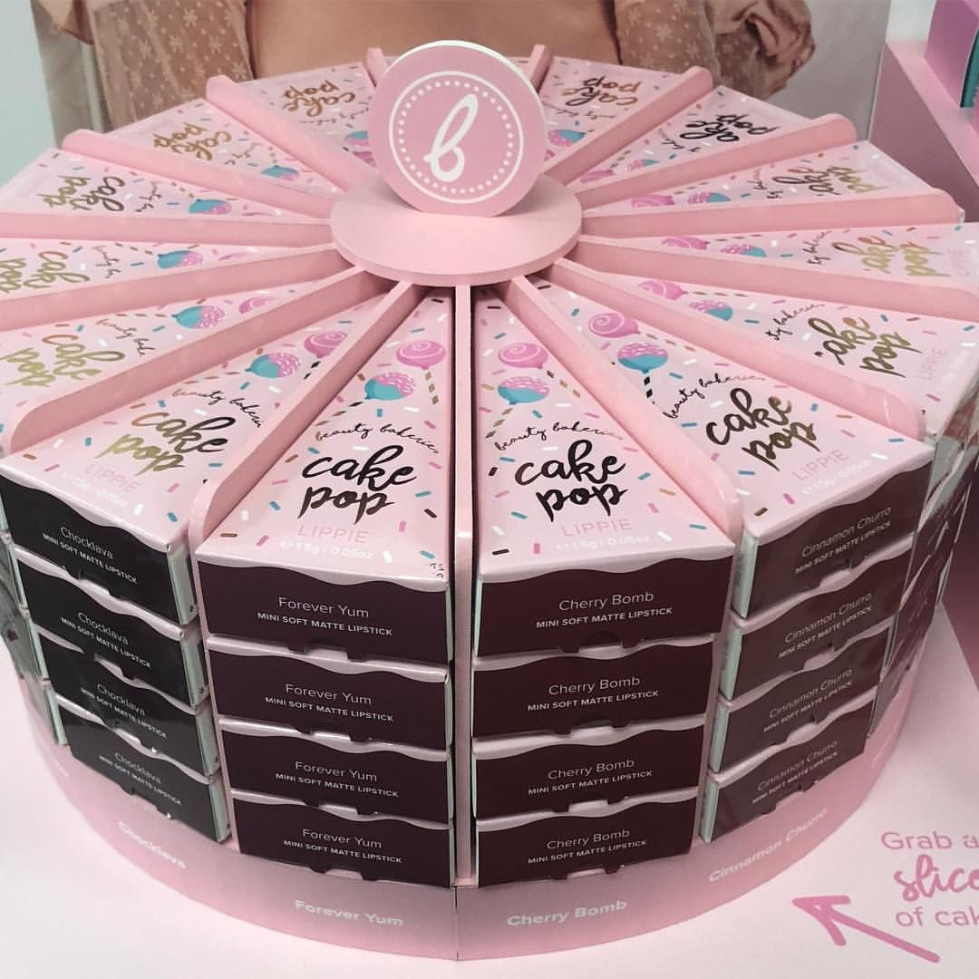 Beauty Bakerie Cosmetics Brand On Instagram Mmmmm Slice Of Cake Anyone 15 Slices Of Cake Pop Lippies To Cho Beauty Bakerie Cosmetics Brands Makeup Package