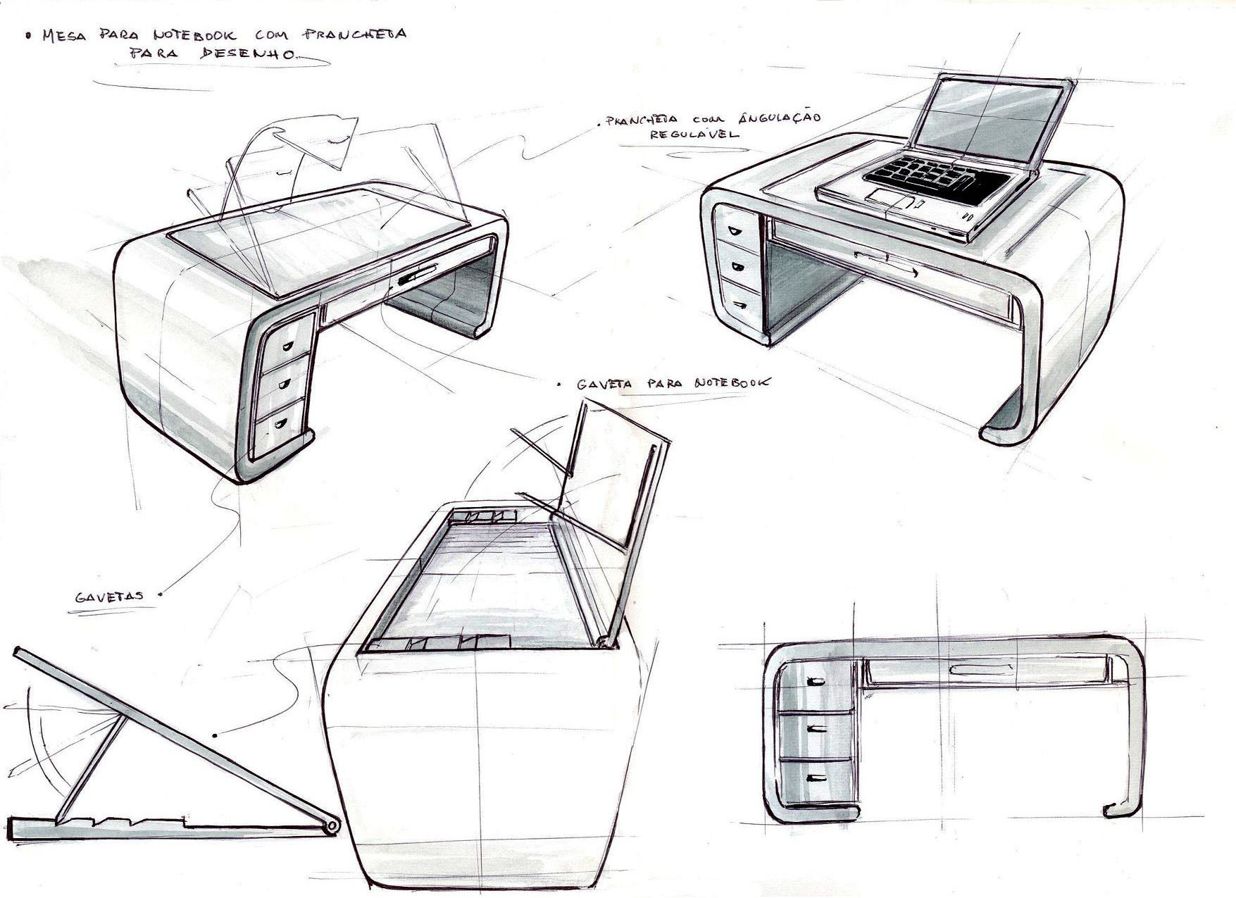 Industrial design sketches furniture -  Id Design Product Sketch