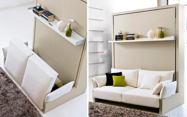 Mueble multifuncional para espacios peque os decofilia - Muebles para espacios reducidos ...