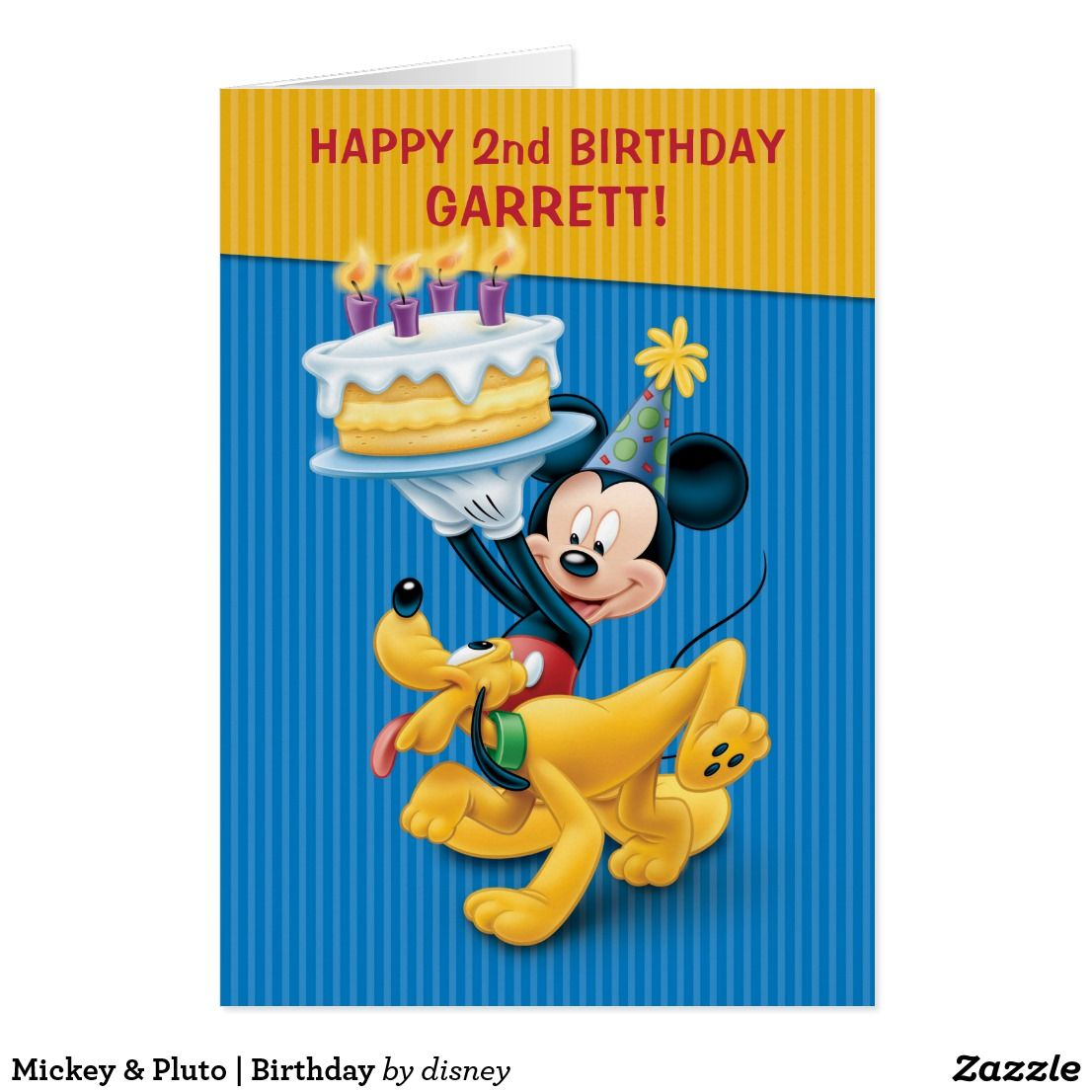 Mickey pluto birthday custom disney birthday party pinterest shop disney mickey mouse pluto birthday party card created by disney personalize it with photos text or purchase as is kristyandbryce Choice Image