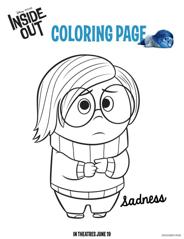 Disney Pixar Inside Out Sadness Coloring Sheet | Printable Coloring ...