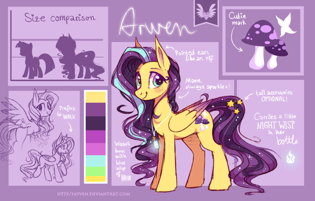 A r w e n - Reference Sheet 2014 by Fayven on DeviantArt