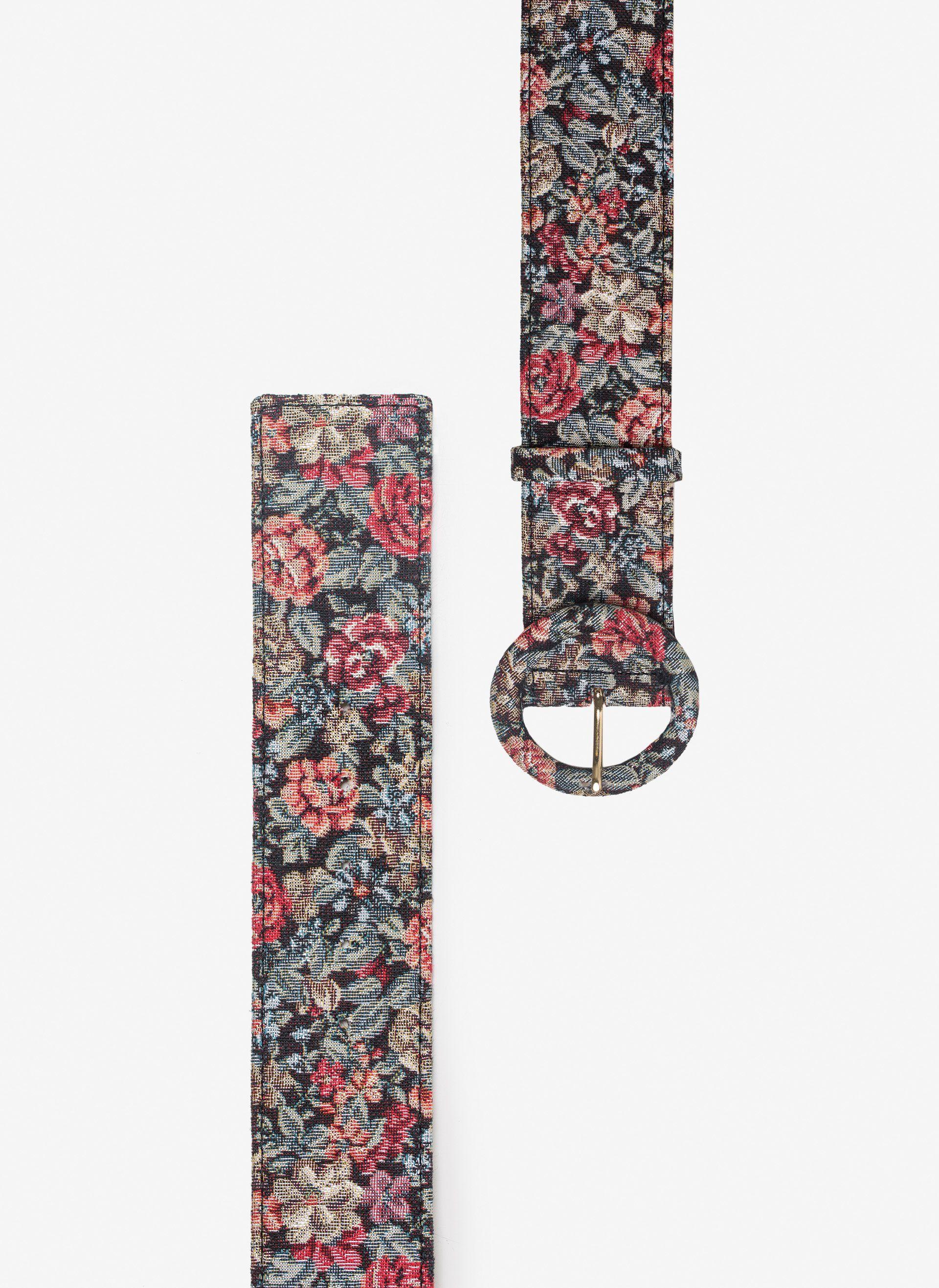 Cinturón tejido flores, Üterque.