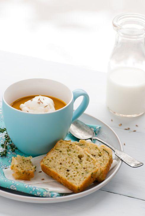 soupe de carotte et pain de courgette