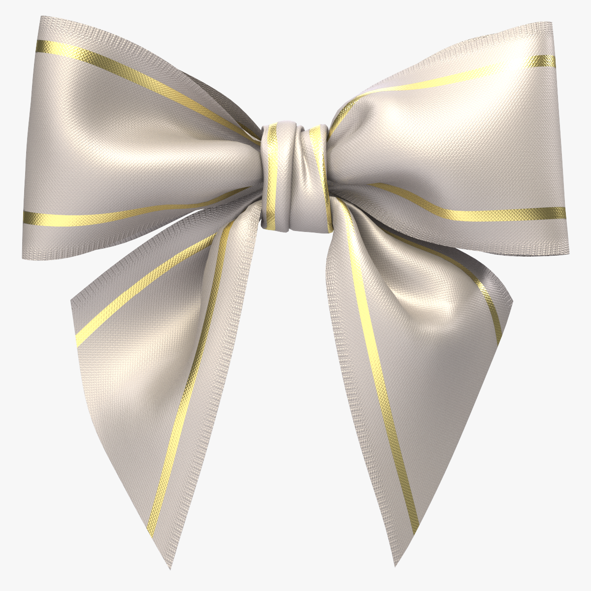 White Ribbon Bow Png