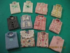 Folded shirts - there is a tutorial at http://mishellyszoo.homestead.com/FoldedShirts.html - but these have more detail - site includes close-ups of individual shirts