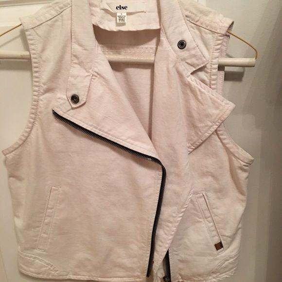 White jean vest NEVER WORN white Jean crop vest Other