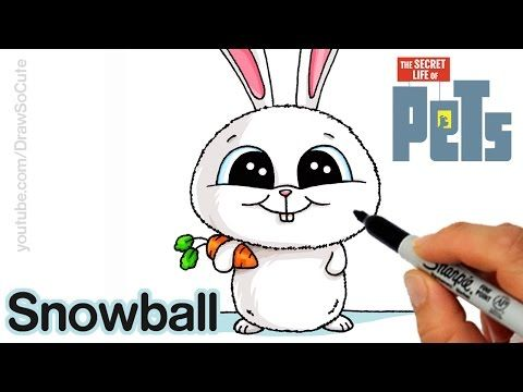 How To Draw Snowball Step By Step Easy The Secret Life Of Pets