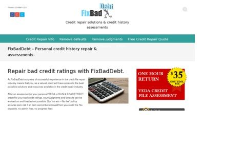 To remove bad credit and repair personal credit history in Australia visit our website https://fixbaddebt.com.au/ we can access your credit history information with your permission.