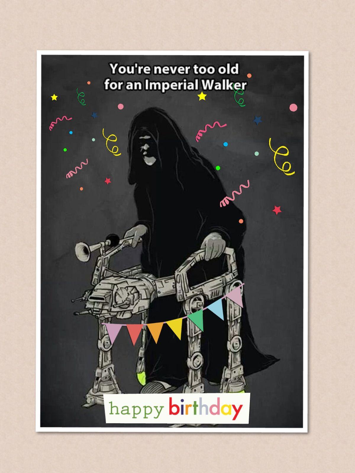 star wars birthday card diy