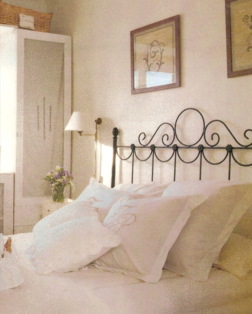 Ambiente dormitorio flor 2 forja cabeceros cabezales muebles mesas y camas de forja - Cabeceros de hierro ...