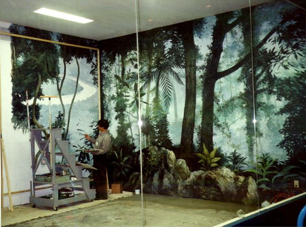 Decorating Rain Forest Wall Murals Inspirations   Painting Forest Wall  Murals Decoration Part 50