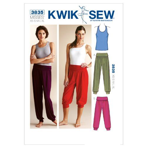Kwik Sew K3835 Top and Pants Sewing Pattern, Size XS-S-M-... https ...