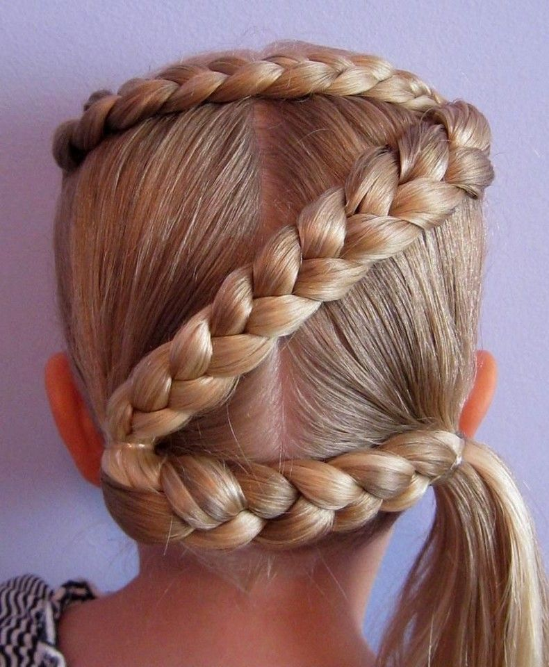 What A Beautiful Hairstyle Idea With Braids Creation Is Shown Below In The Picture This Is One Of The Most At Cool Hairstyles For Girls Hair Styles Wacky Hair