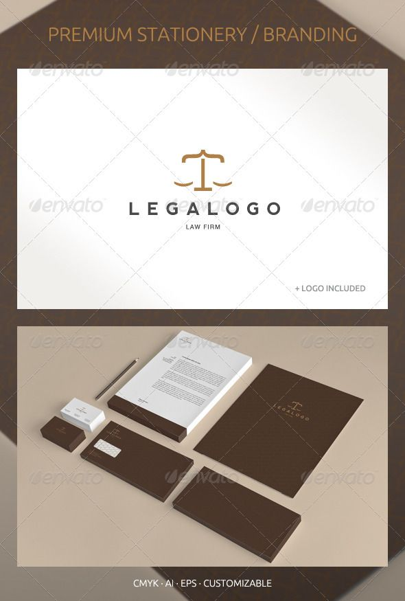 legal and lawyer corporate identity stationery print templates