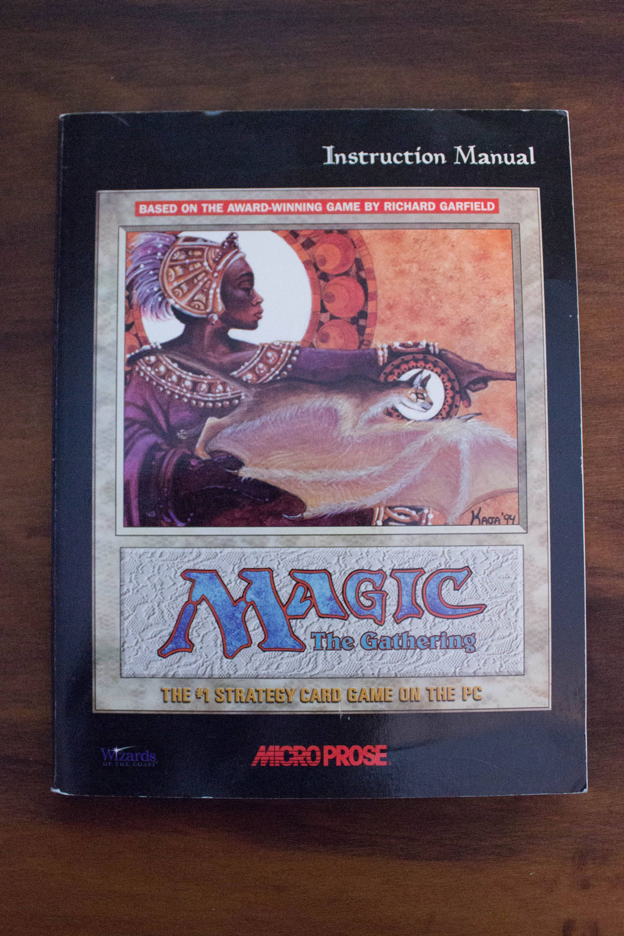 1997 magic the gathering micro prose pc game instruction manual book rh pinterest com For Wild Game Camera Instruction Manual Toy Instruction Manual