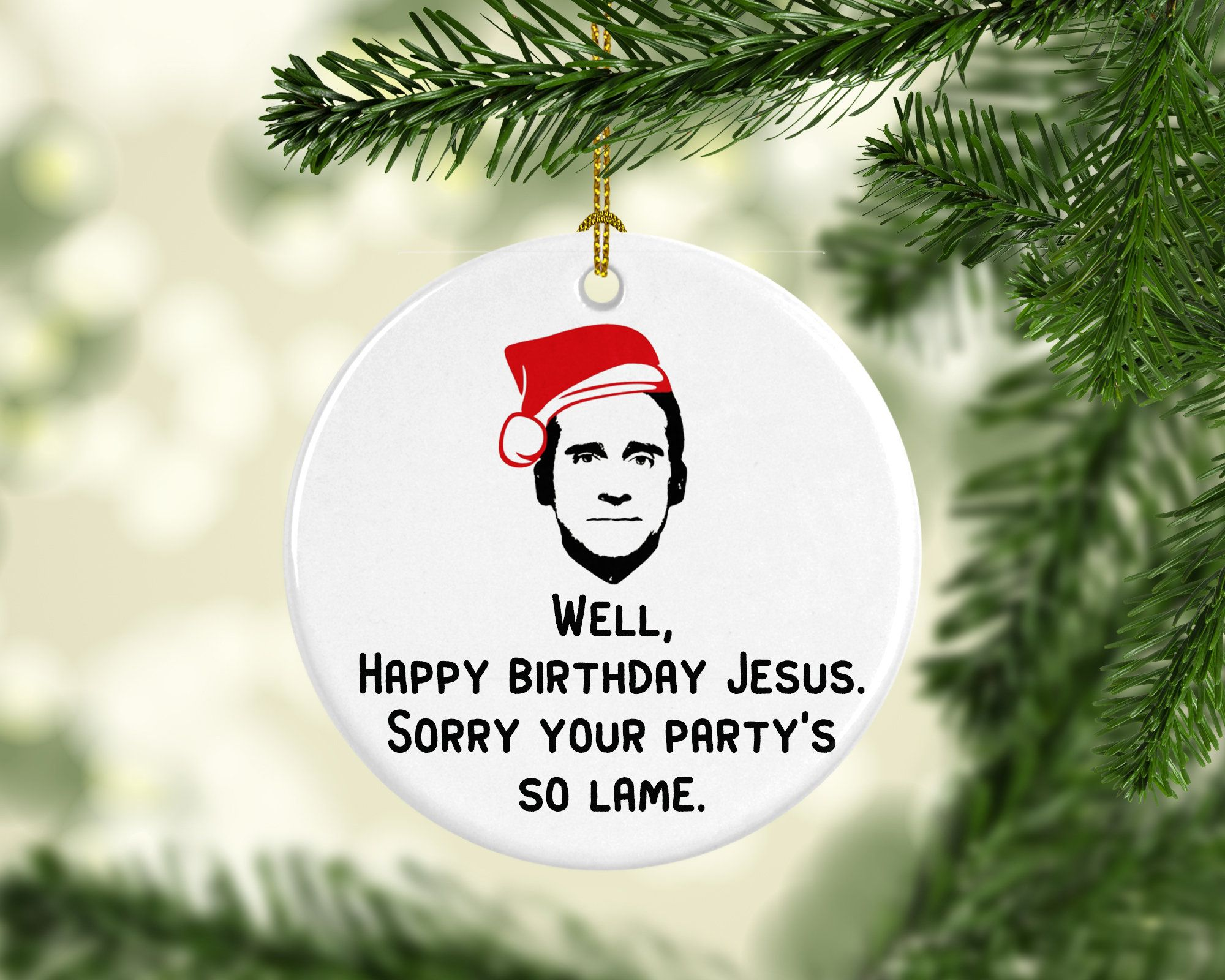 The Office Christmas Ornament Michael Scott Ornament Happy