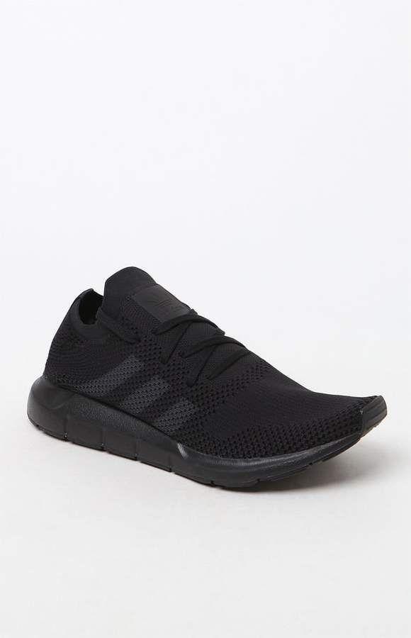 Adidas zapatos de Swift Run primeknit negro & Gray Jay Pinterest