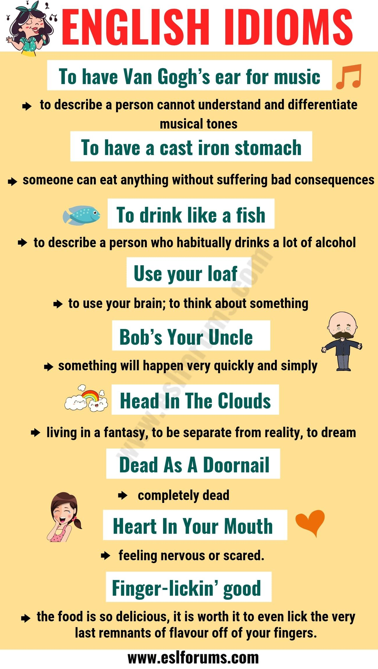 Top 20 Funny Idioms In English You Might Not Know