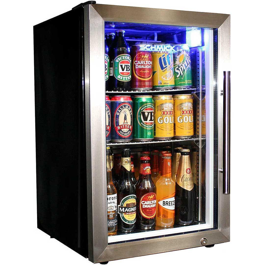 Tropical Glass Door Beer Fridge Compact Bar Fridge 68 Litre With Lock Left Hinged Bar Fridges Glass Door Beer Fridge