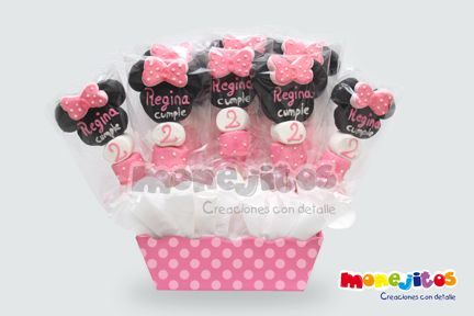 Brochetas De Bombon Minnie Mouse - $ 1300 en MercadoLibre u2026 Pinteresu2026
