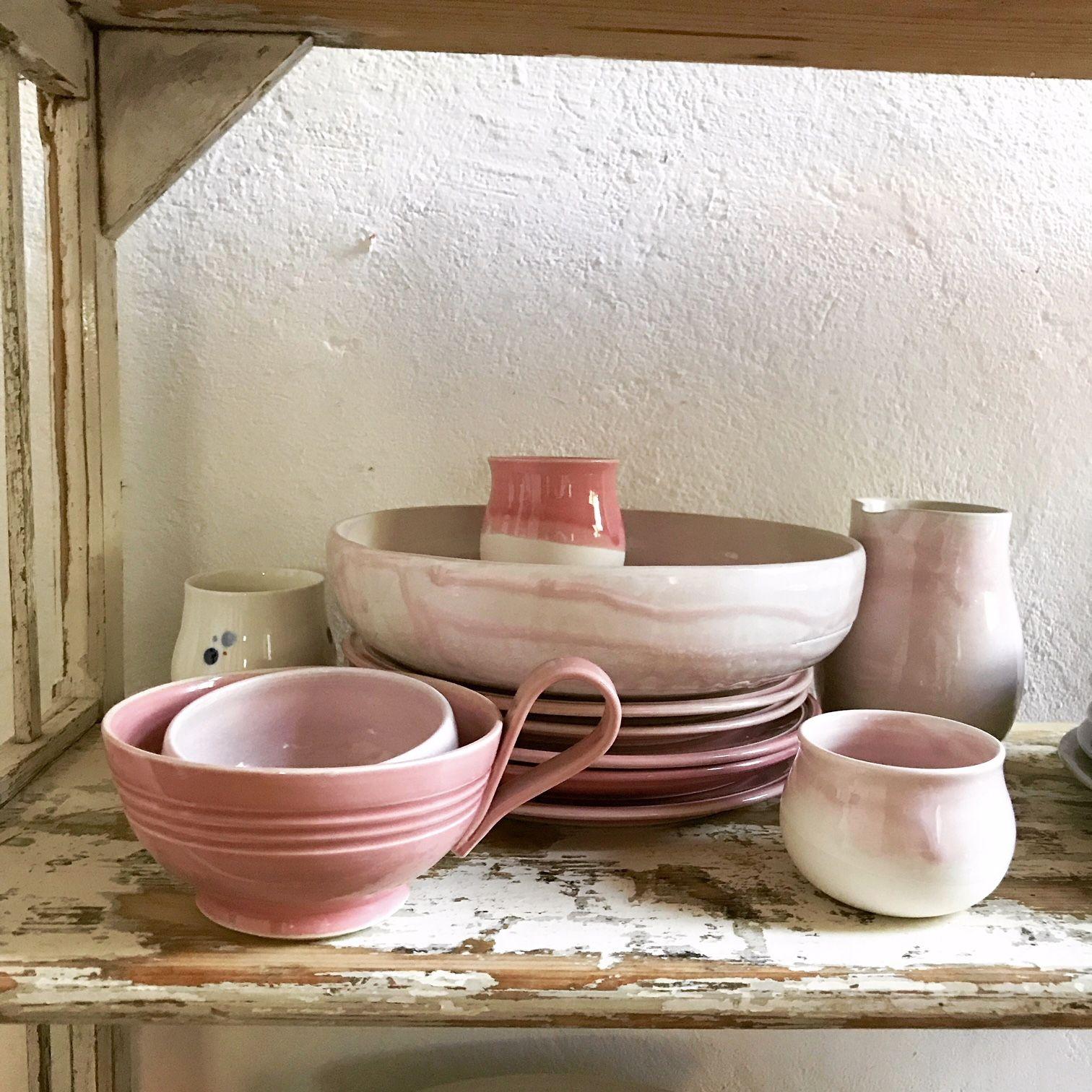 Rosa Geschirr Keramik Geschirr Geschirr Rosa Gerichte