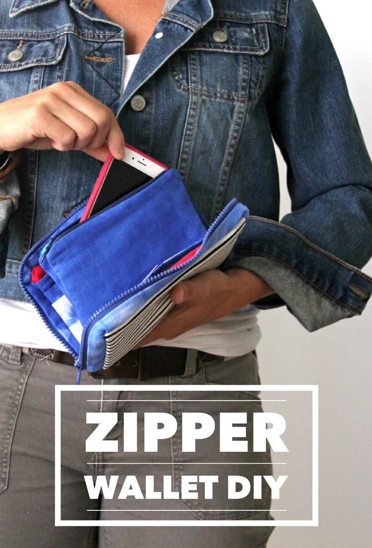 Zipper Wallet DIY | Innentasche, Reißverschluss und Geldbörse