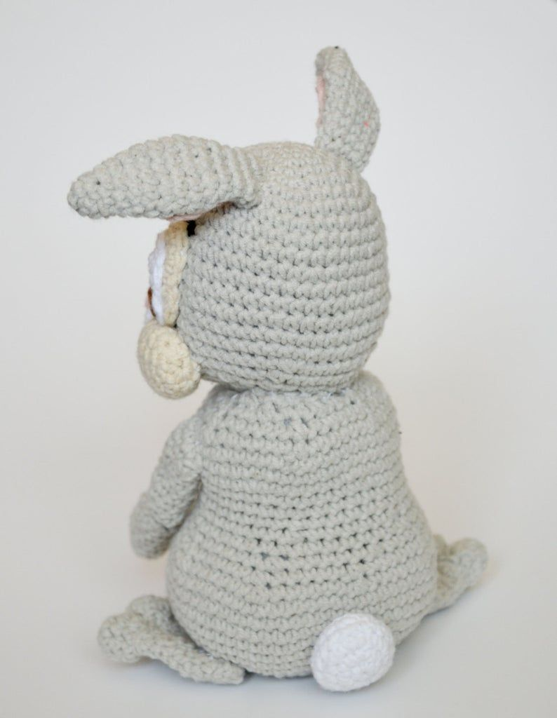 Crochet PATTERN No 1612 - Easter Thumper rabbit by Krawka #eastercrochetpatterns