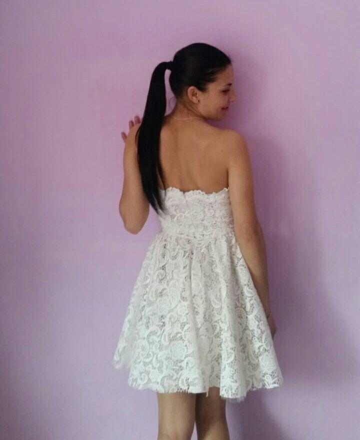 best website 16c27 c1fc3 White Lace short wedding dress | https://www.etsy.com/it ...
