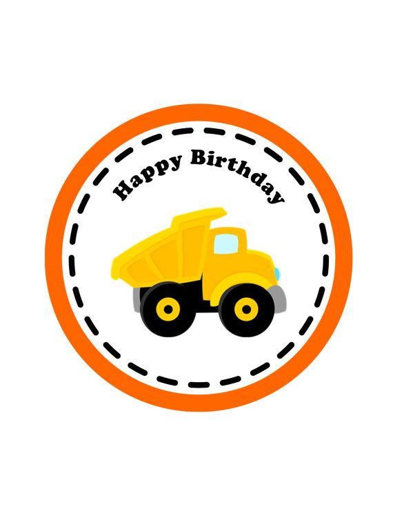 Construction Birthday Printable, Centerpiece  -Instant Download