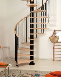 Best Kl*N Spiral Staircase In Solid Wood And Steel Spiral 640 x 480