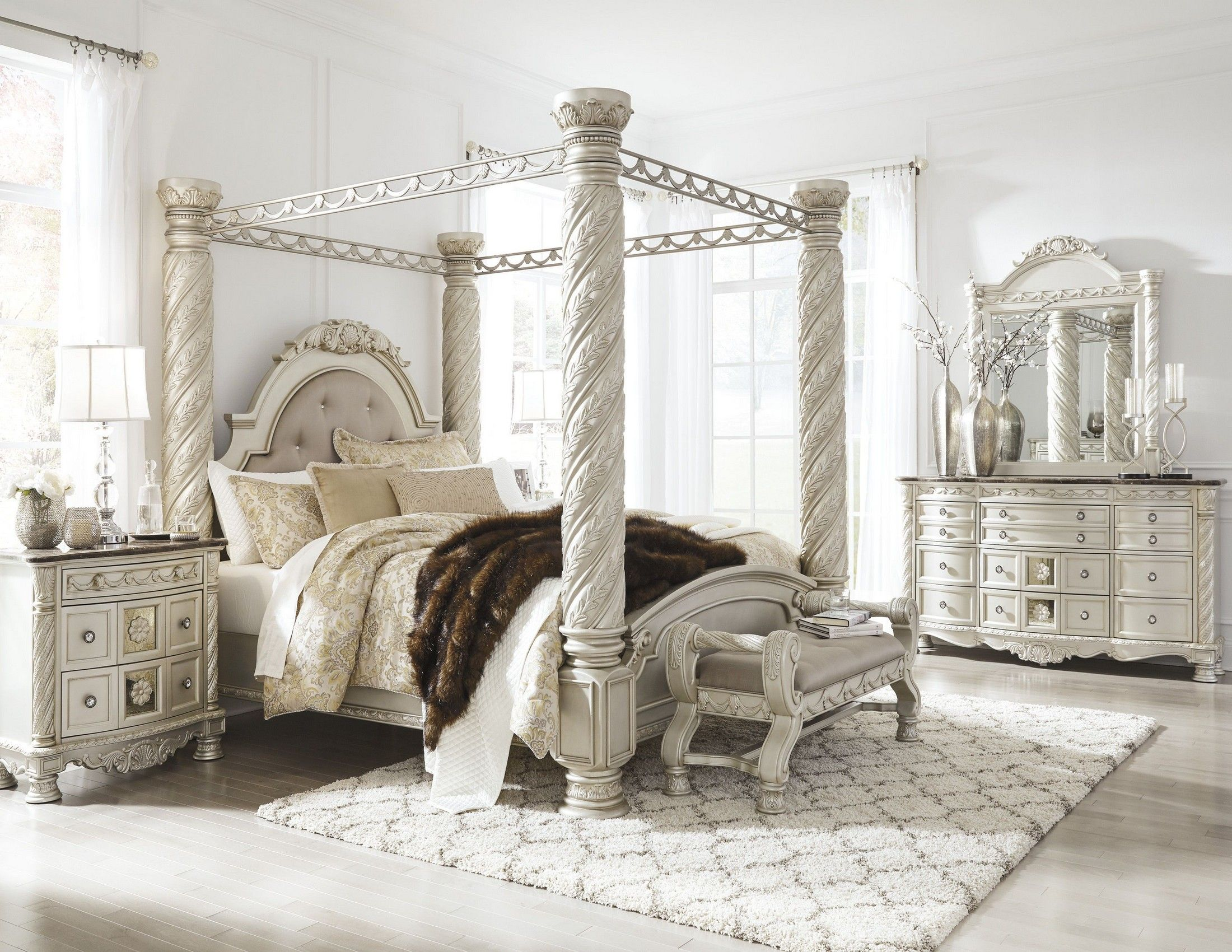 1stopbedrooms Com In 2021 Canopy Bedroom Sets Canopy Bedroom Bedroom Sets North shore bedroom set
