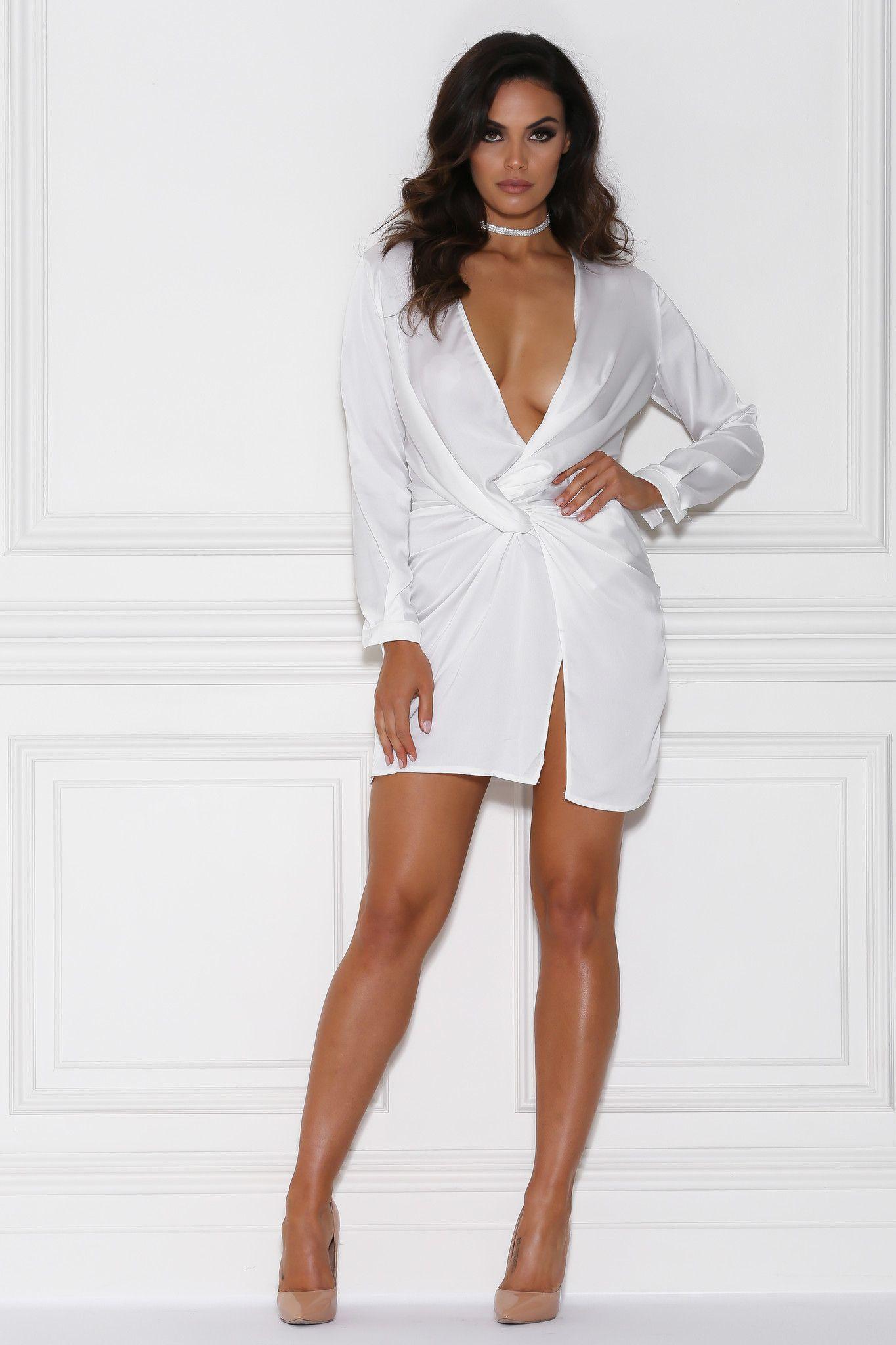 Adara mini satin dress white satin dresses satin